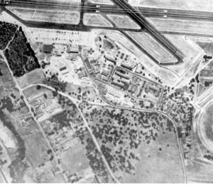 Aerial photograph of Casanova Oak Knoll Neighborhood Circa 1946