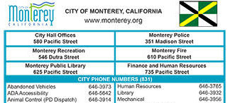 City of Monterey Phone Numbers