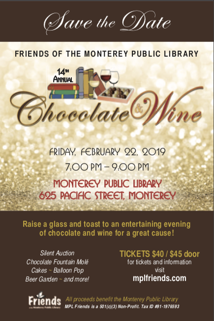 2019 Monterey Library Chocolate and Wine