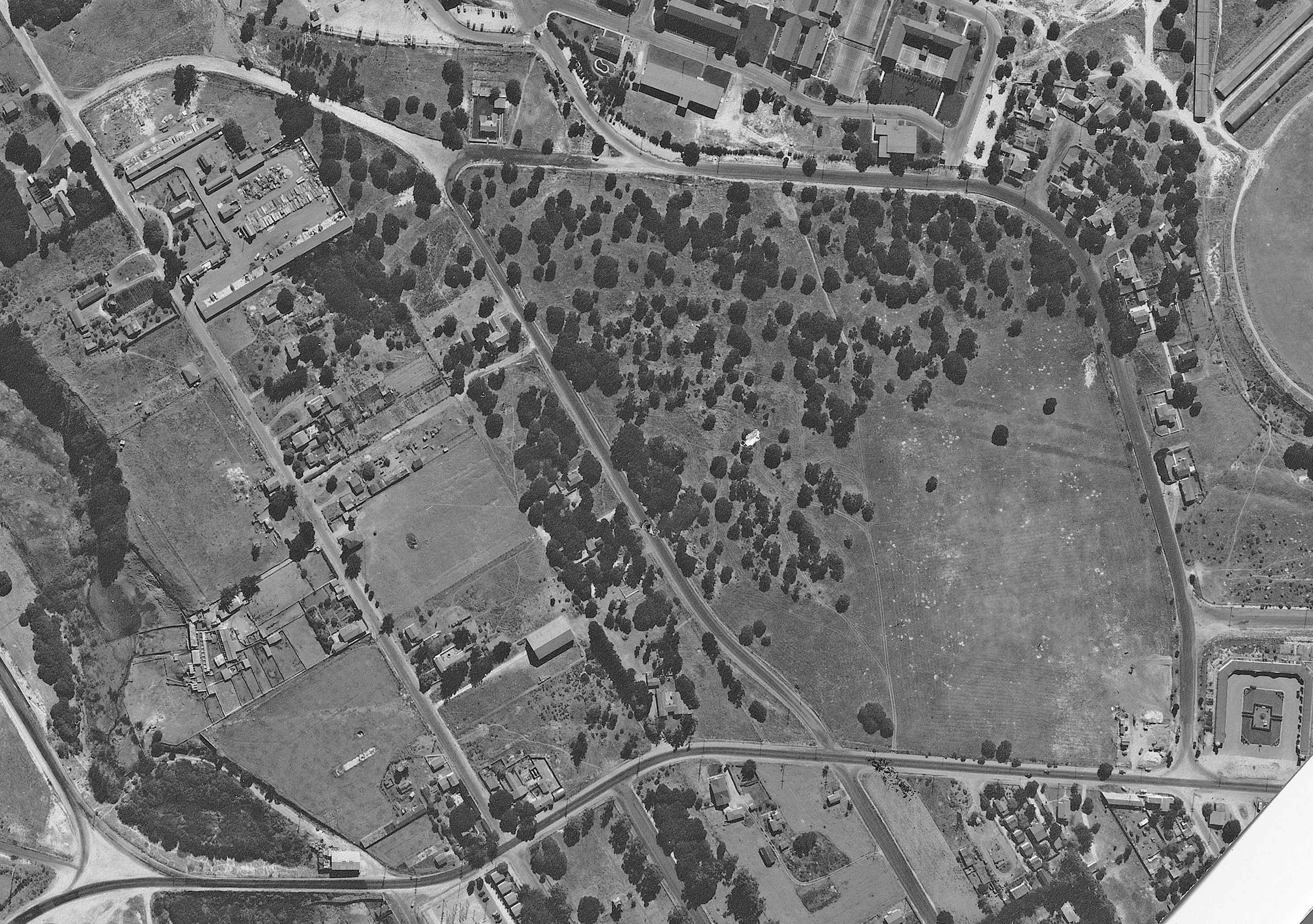 1945 aerial photograph courtesy of UC Santa Barbara Library, Special Collections.